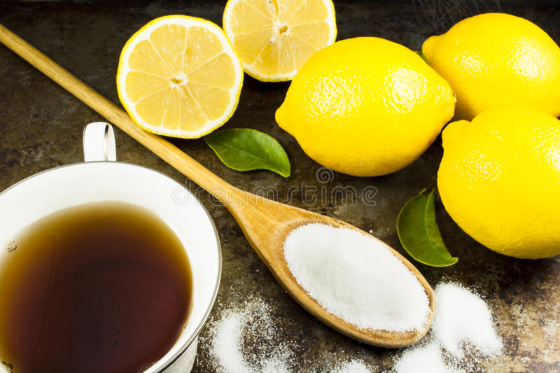 Tea with Lemons and Sugar stock photo