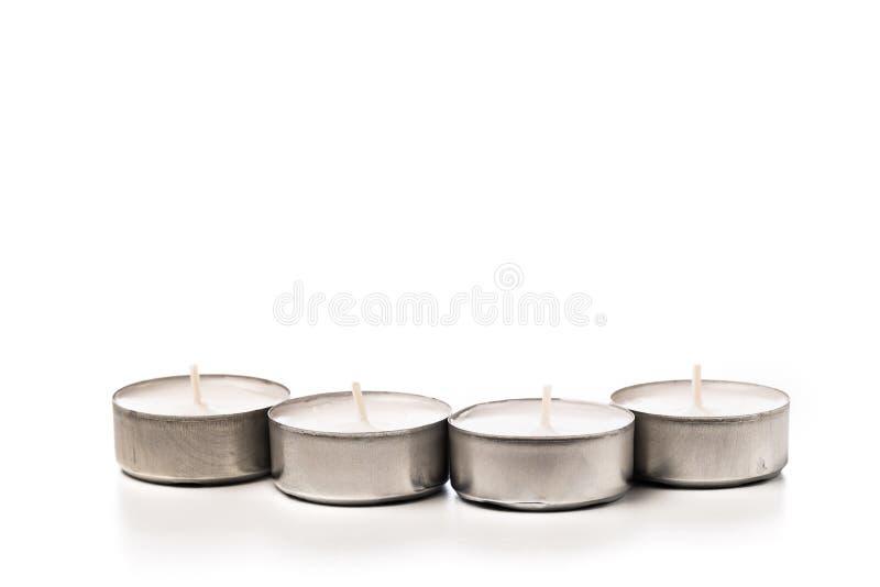 Tea lights isolated on white. Tea lights isolated on white stock image