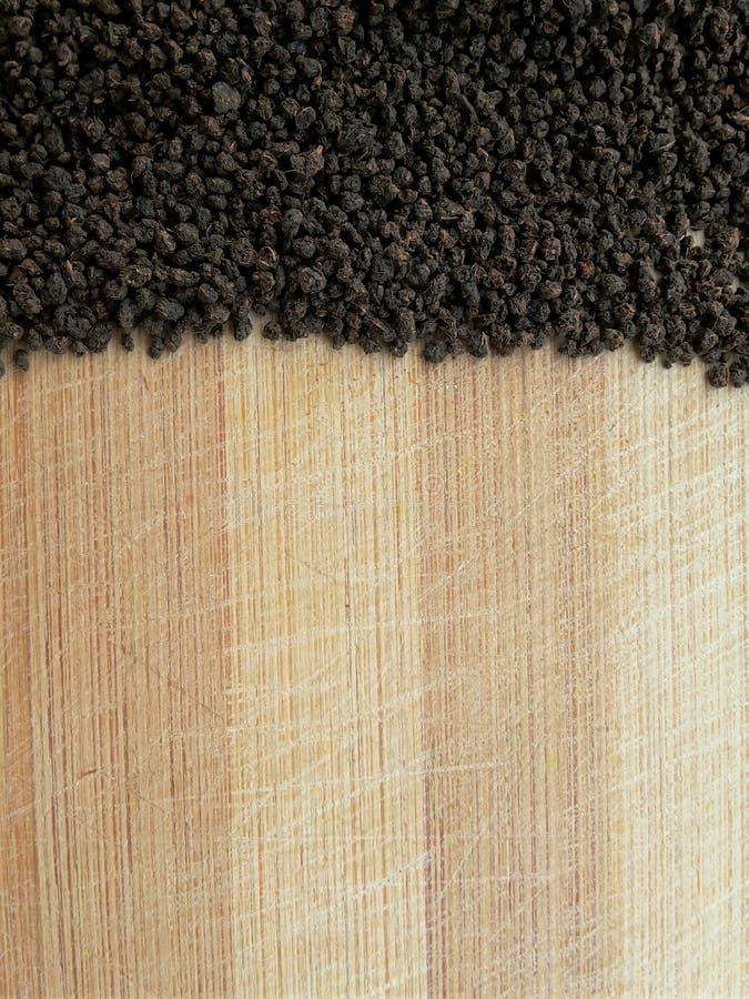 Tea line on wooden background. Close up of tea line on wooden background royalty free stock images