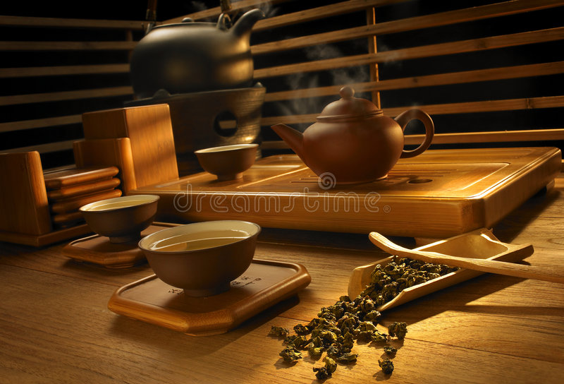 Tea making set. A complete set of Chinese tea brewing utensils