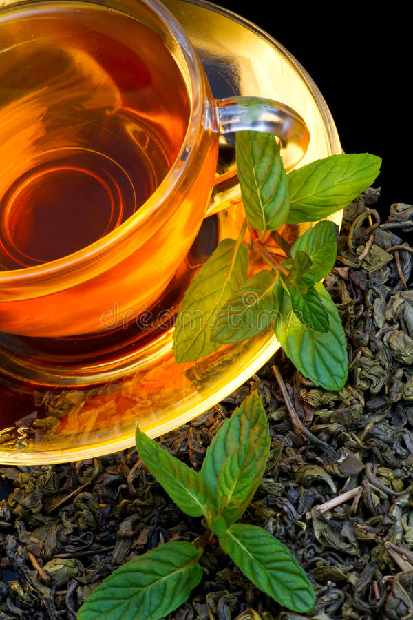 Download Tea And Mint Royalty Free Stock Image - Image: 23215576