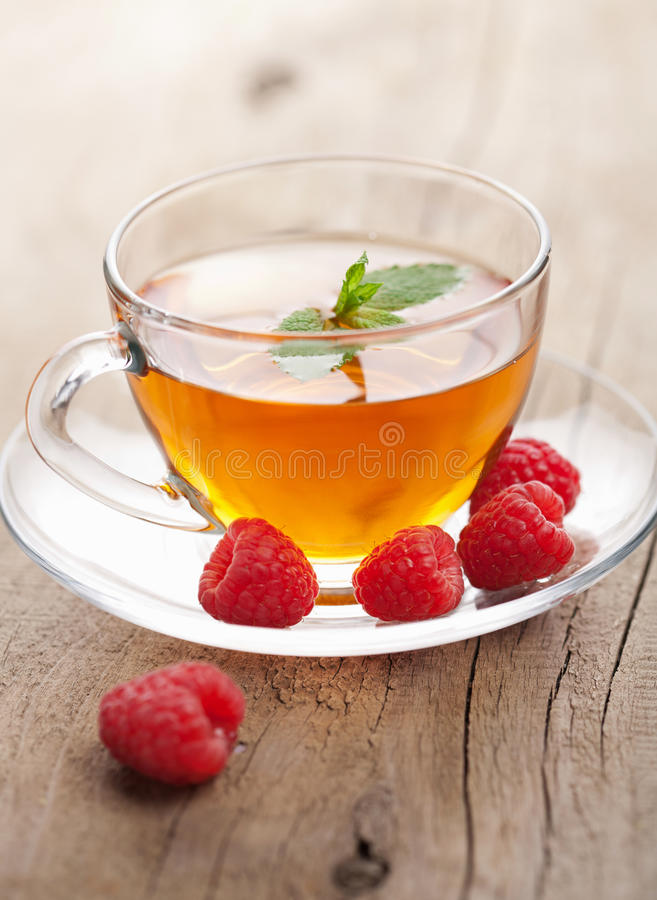 Download Tea with mint and berry stock image. Image of refreshment - 21748233