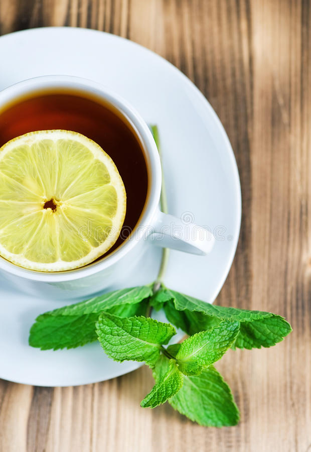 Tea With Mint And Lemon Stock Photography