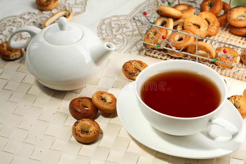 tea mug and teapot stock image