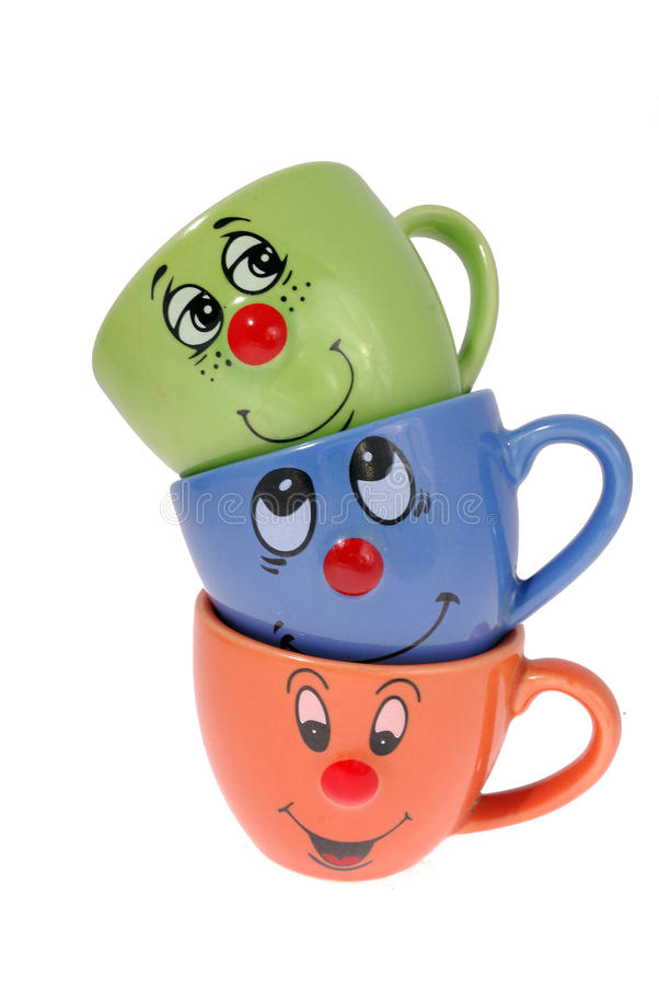Tea mugs and coffee cups stock photos