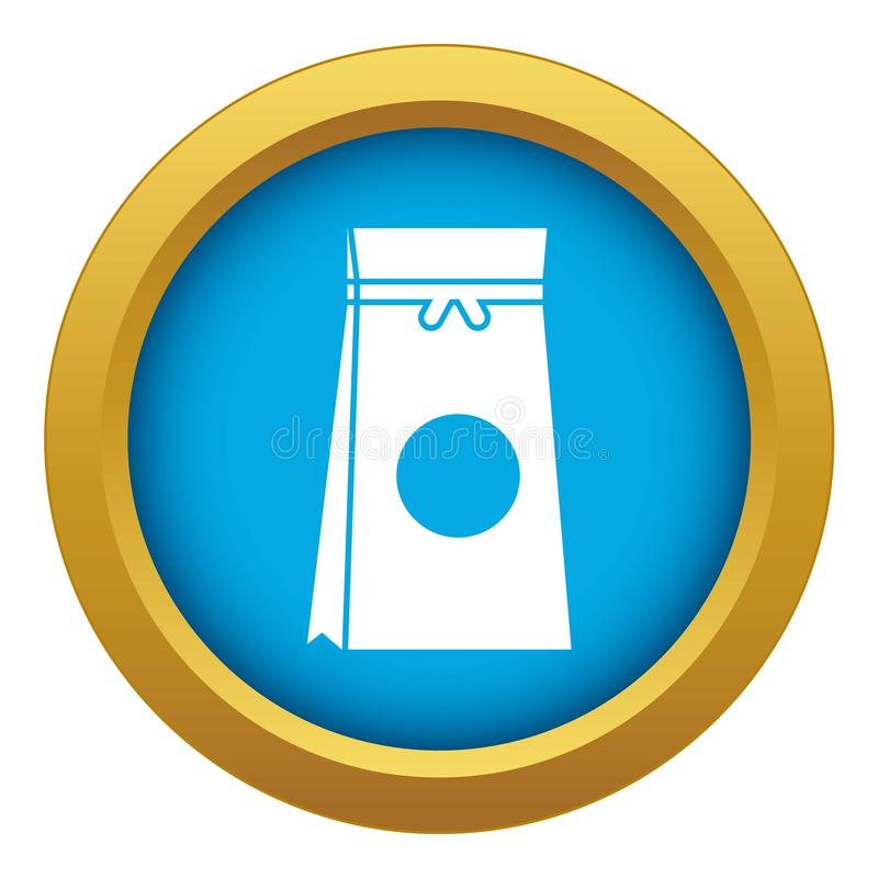 Tea packed in a paper bag icon blue vector isolated. On white background for any design royalty free illustration
