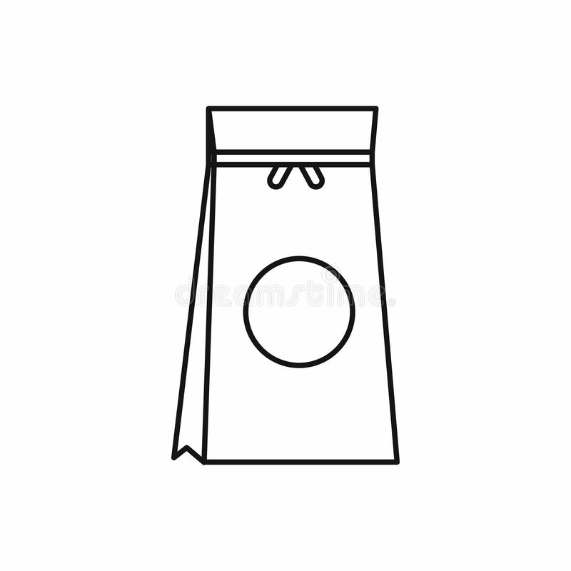 Tea packed in a paper bag icon, outline style. Tea packed in a paper bag icon in outline style isolated vector illustration vector illustration
