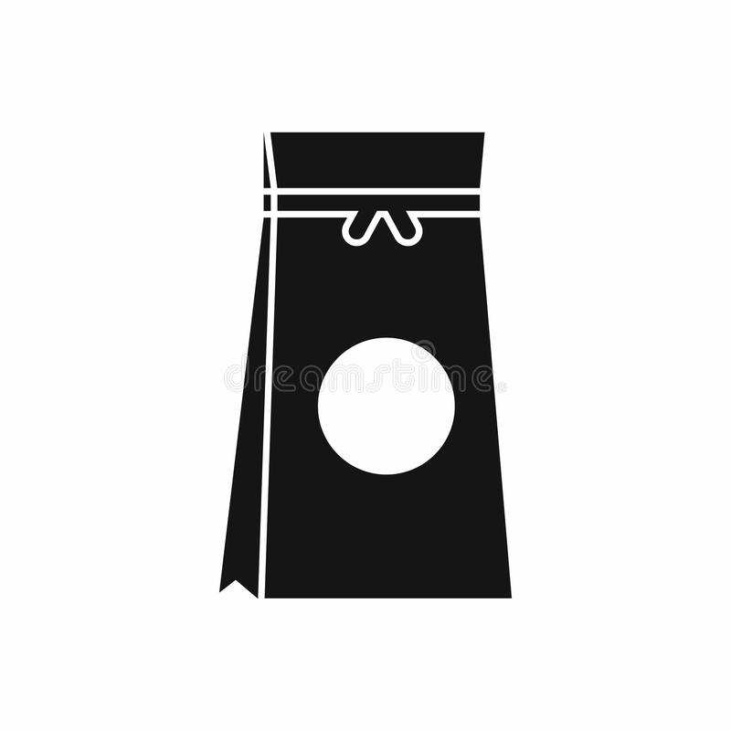 Tea packed in a paper bag icon, simple style. Tea packed in a paper bag icon in simple style isolated vector illustration royalty free illustration