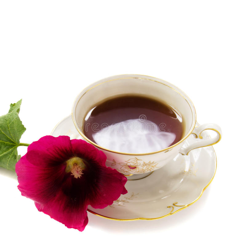 Download Tea party stock photo. Image of flowers, mallows, plate - 20312206