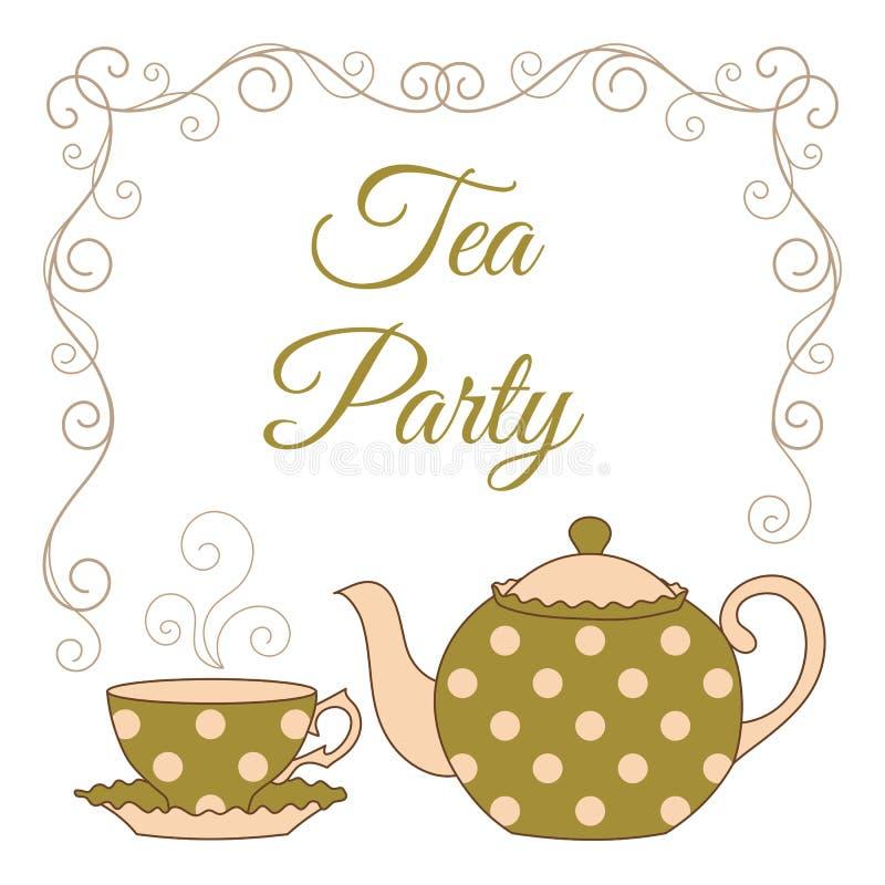 Tea party card stock vector. Illustration of invitation - 62111313