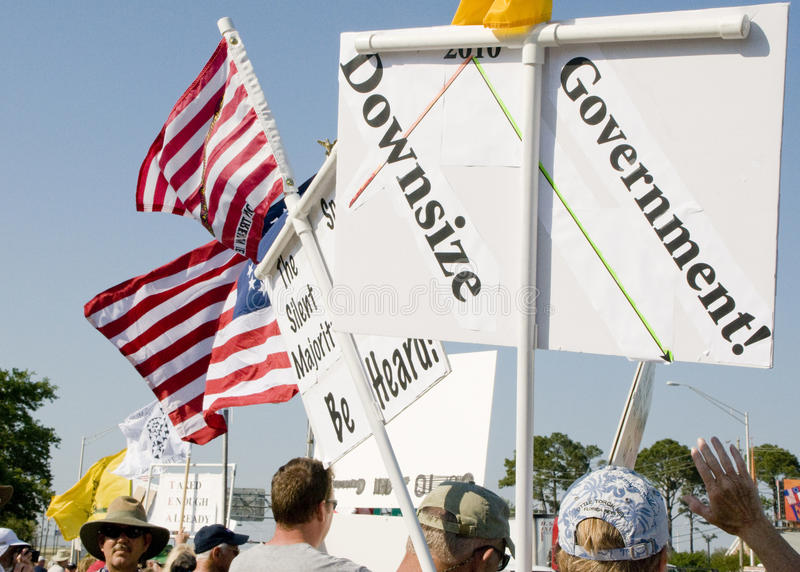 Tea Party Protesters Editorial Photo