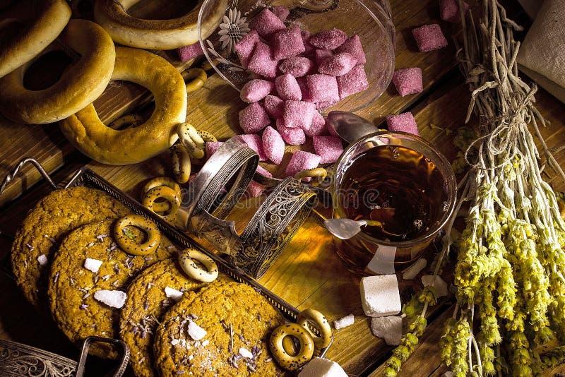 Tea party retro imagem de stock royalty free