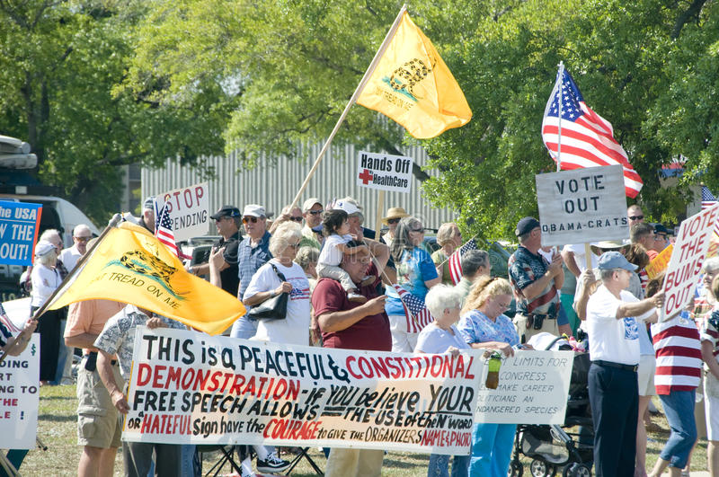 Tea Party Tax Protesters royalty free stock photography