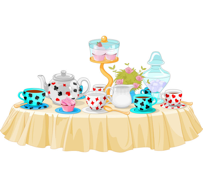 Tea Party Stock Vector Image 43579627