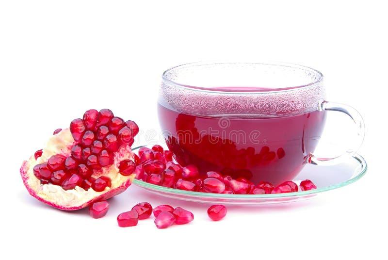 Tea Pomegranate Stock Photo