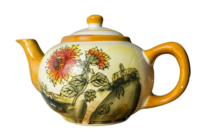 Tea pot. On a white background path included stock image