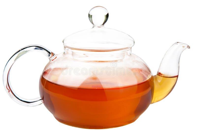 Tea pot isolated. Over white royalty free stock photo