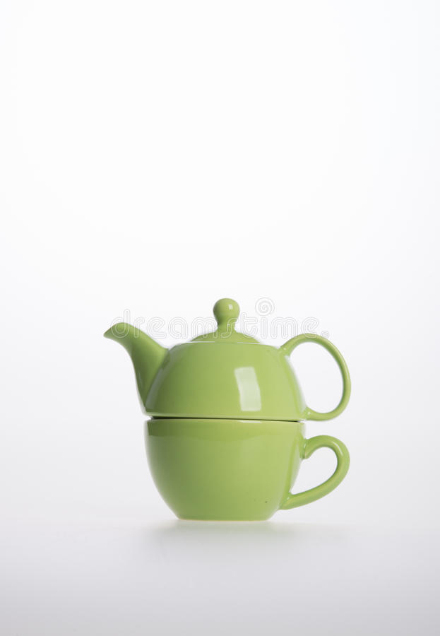 Tea pot set or Porcelain tea pot and cup on background. Tea pot set or Porcelain tea pot and cup on background stock image