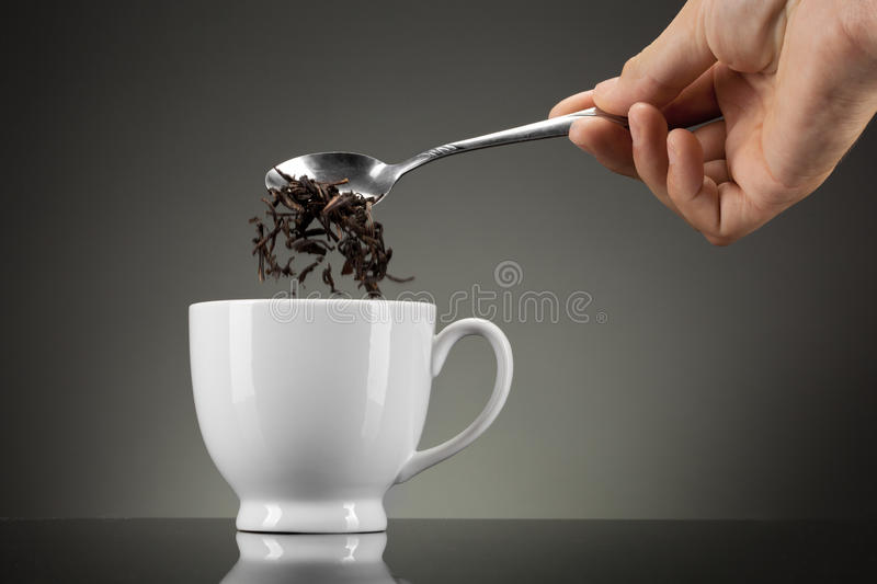 Download Tea Pour Out Into White Cup Stock Image - Image: 23861379