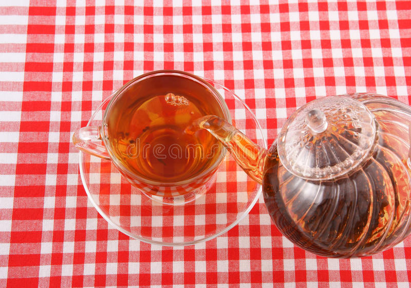 Download Tea Pouring On Tablecloth Royalty Free Stock Photo - Image: 13217745