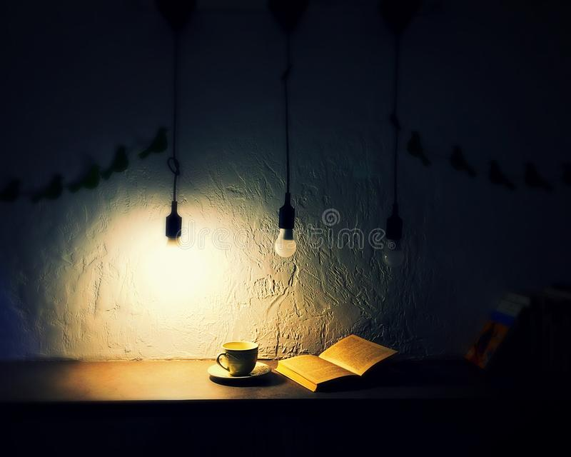 Tea and reading royalty free stock images