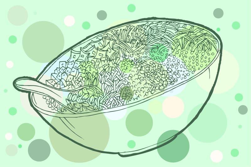 Download Tea Rice stock vector. Image of healthy, mixture, basil - 23698410