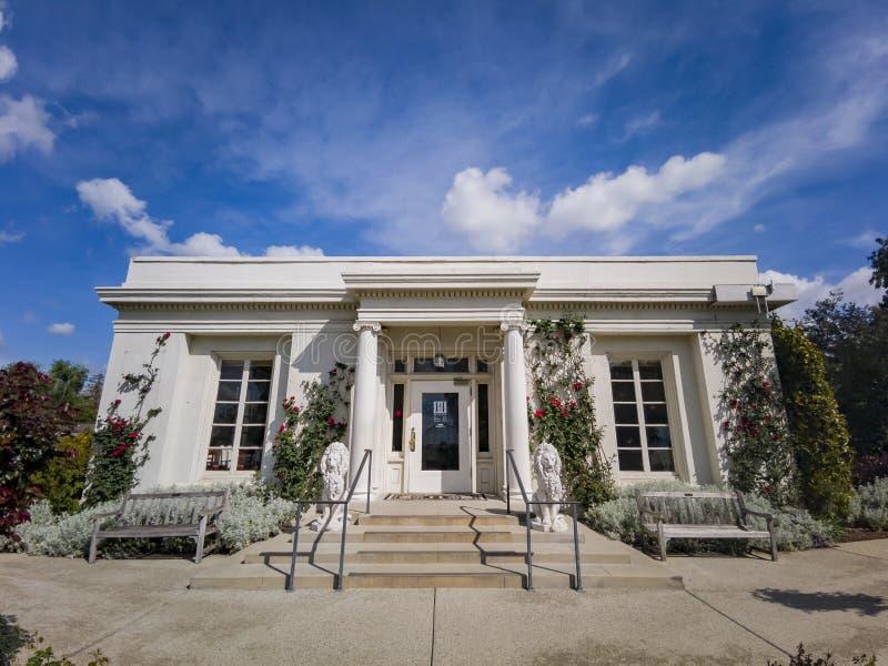 The Tea Room of Huntington Library. Los Angeles, APR 5: The Tea Room of Huntington Library on APR 5, 2019 at Los Angeles, California stock image
