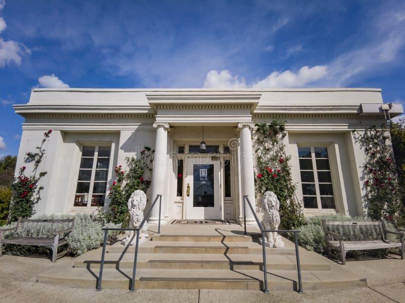 The Tea Room of Huntington Library. Los Angeles, APR 5: The Tea Room of Huntington Library on APR 5, 2019 at Los Angeles, California stock photography