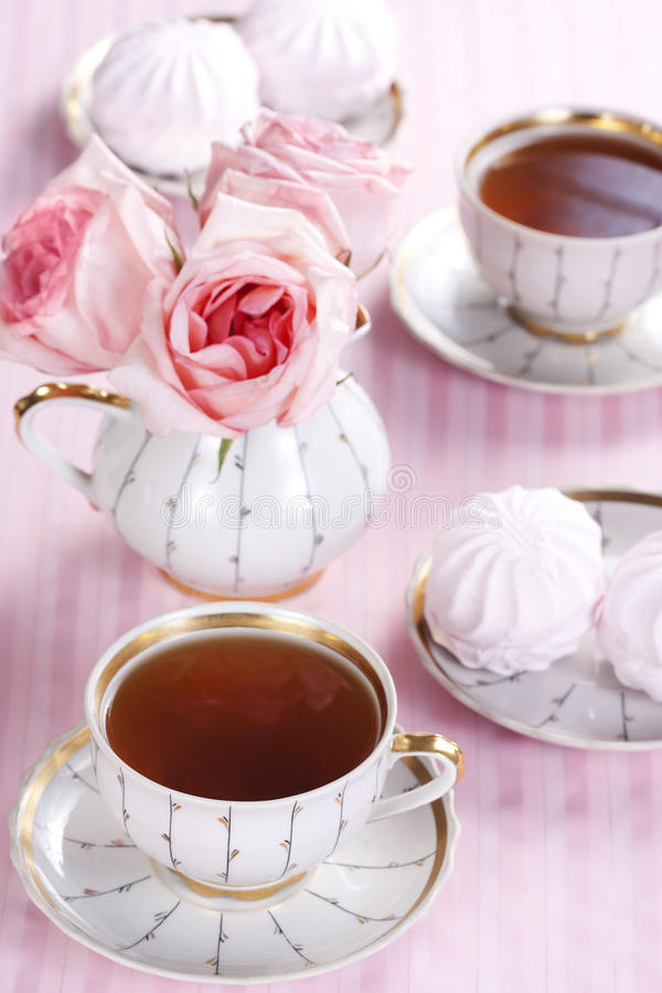 Download Tea and roses stock photo. Image of luxury, object, petals - 18161836