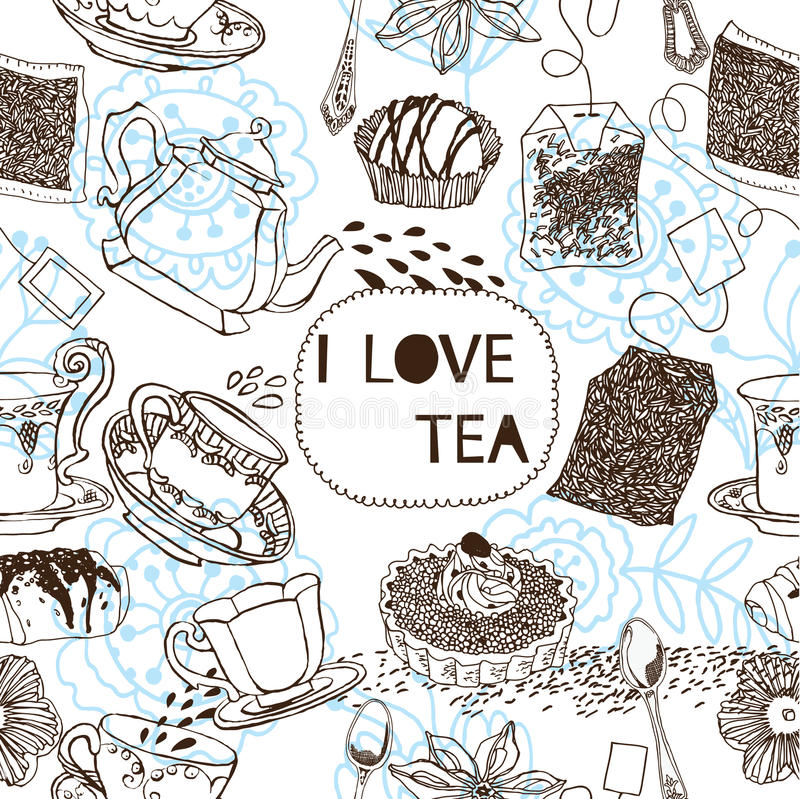 Free Tea Seamless Pattern Royalty Free Stock Images - 18454209