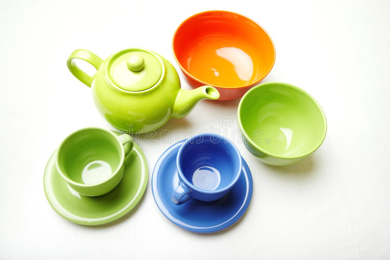 Download Tea service stock image. Image of tableware, multicolor - 19009185