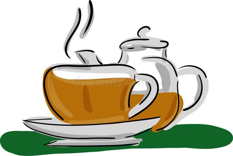 Download Tea set stock vector. Image of herbal, health, lifestyle - 16866590
