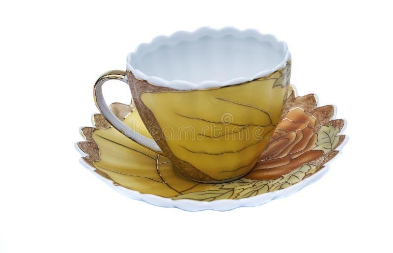 Tea set, coffee set, saucer, Cup, white background, kitchen utensil, kitchenware stock image