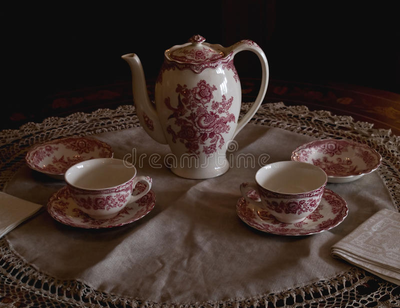 Download Tea set in morning light stock image. Image of finery - 14284043