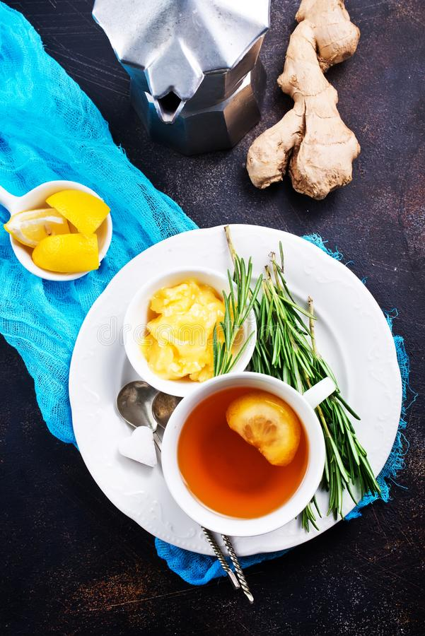 Tea with spice and honey stock photography