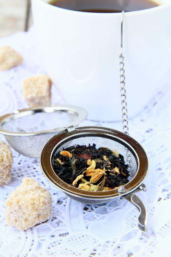 Download Tea Strainer With A Fragrant Black Tea Stock Image - Image: 19767771