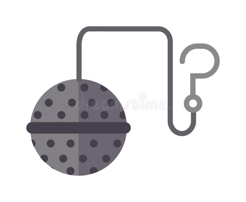 Tea strainer vector illustration. Food tool tea-strainer flat style stock illustration