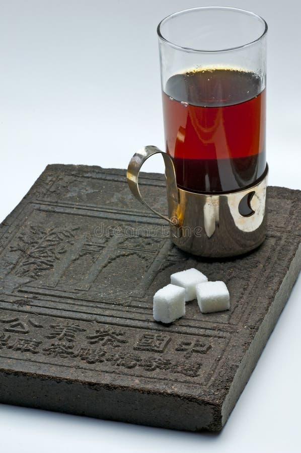 Tea with tea-brick