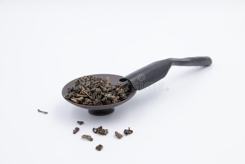 Tea Teaspoon and saucer stock images