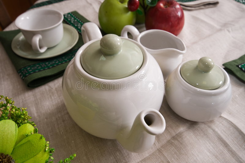 Download Tea-things. Royalty Free Stock Photos - Image: 7377558