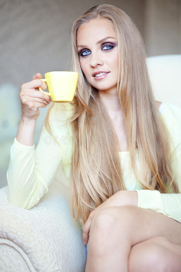 Download Tea time stock photo. Image of beautiful, beauty, drinking - 19545066