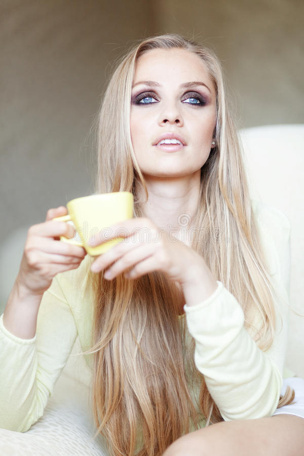 Download Tea time stock image. Image of female, lifestyle, casual - 19676199