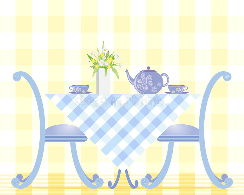 Download Tea time stock vector. Illustration of tablecloth, english - 24544460