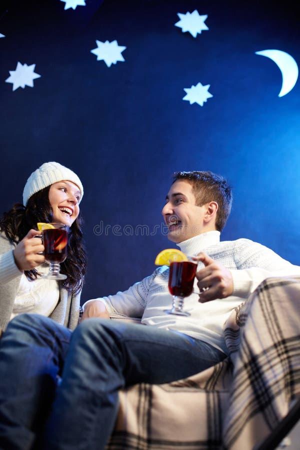 Download Tea time stock image. Image of glass, cheerful, human - 25444073