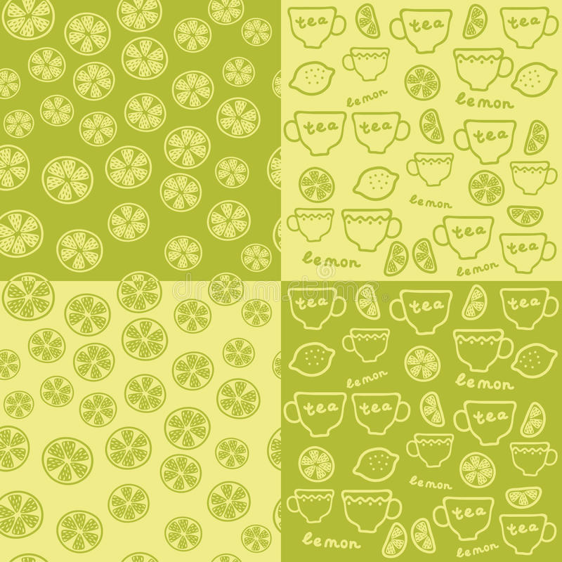 Download Tea time background stock vector. Image of seamless, citrus - 16497980