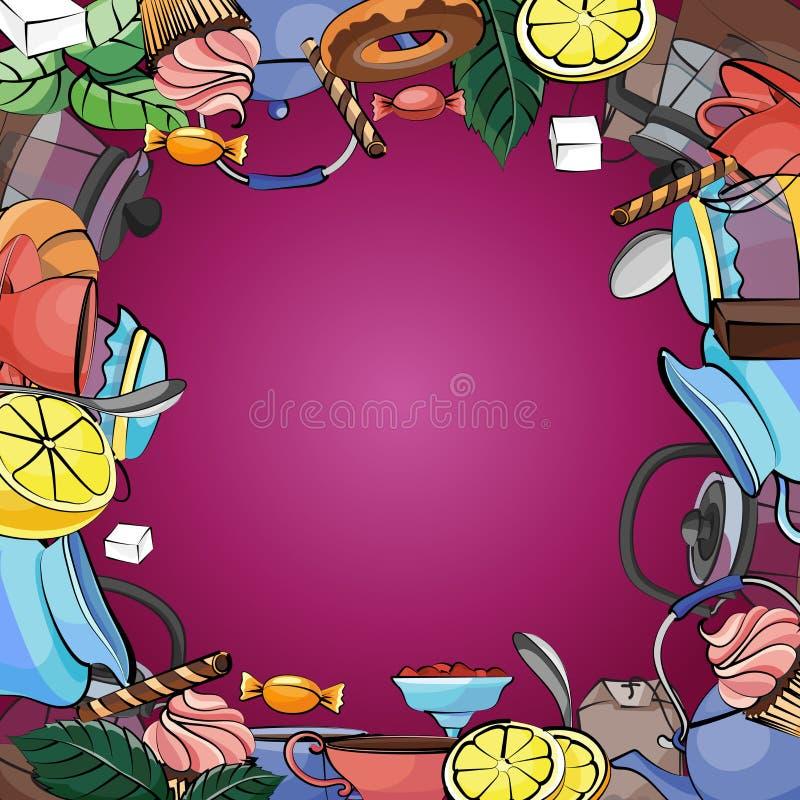 Tea Time background stock illustration