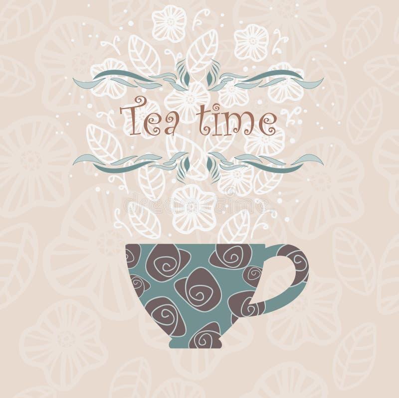 Tea time royalty free illustration