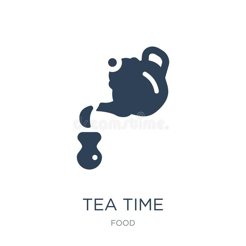 Tea time icon in trendy design style. tea time icon isolated on white background. tea time vector icon simple and modern flat. Symbol for web site, mobile, logo vector illustration