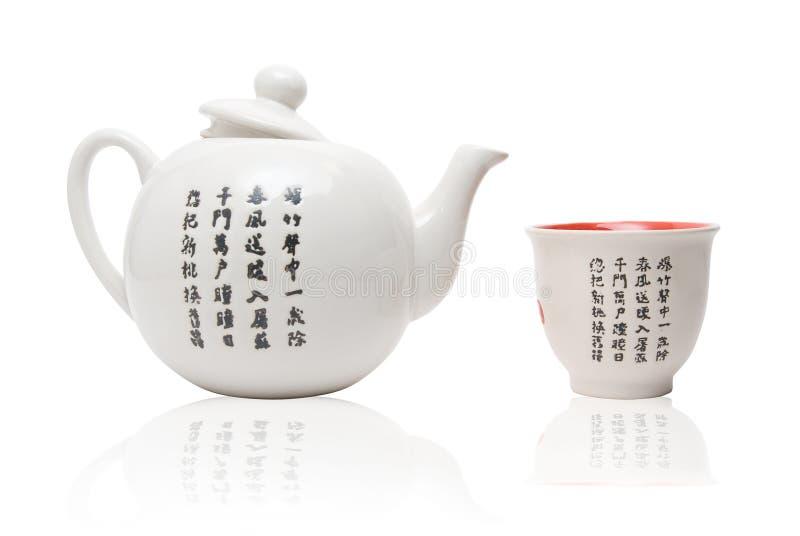 Tea-ting i asiatisk stil royaltyfria foton