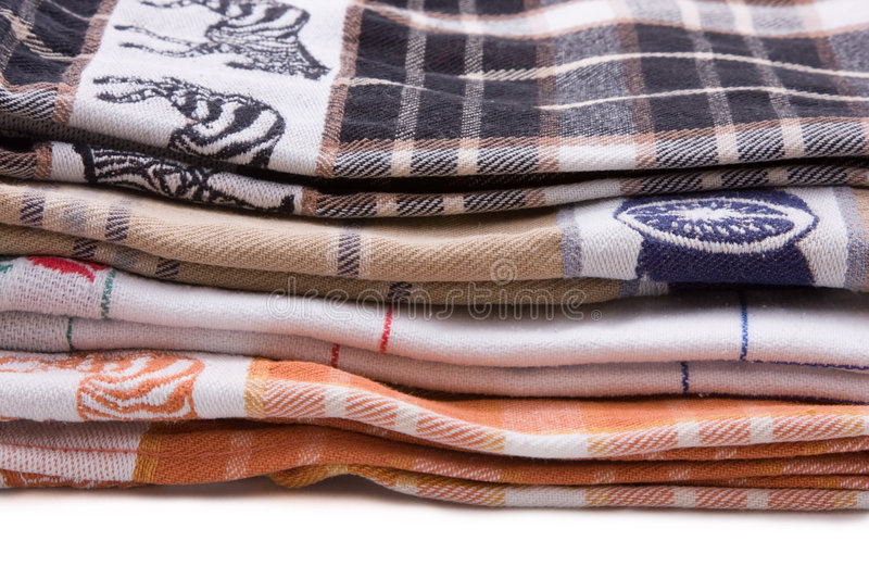 Download Tea Towels stock image. Image of material, threads, white - 3701397